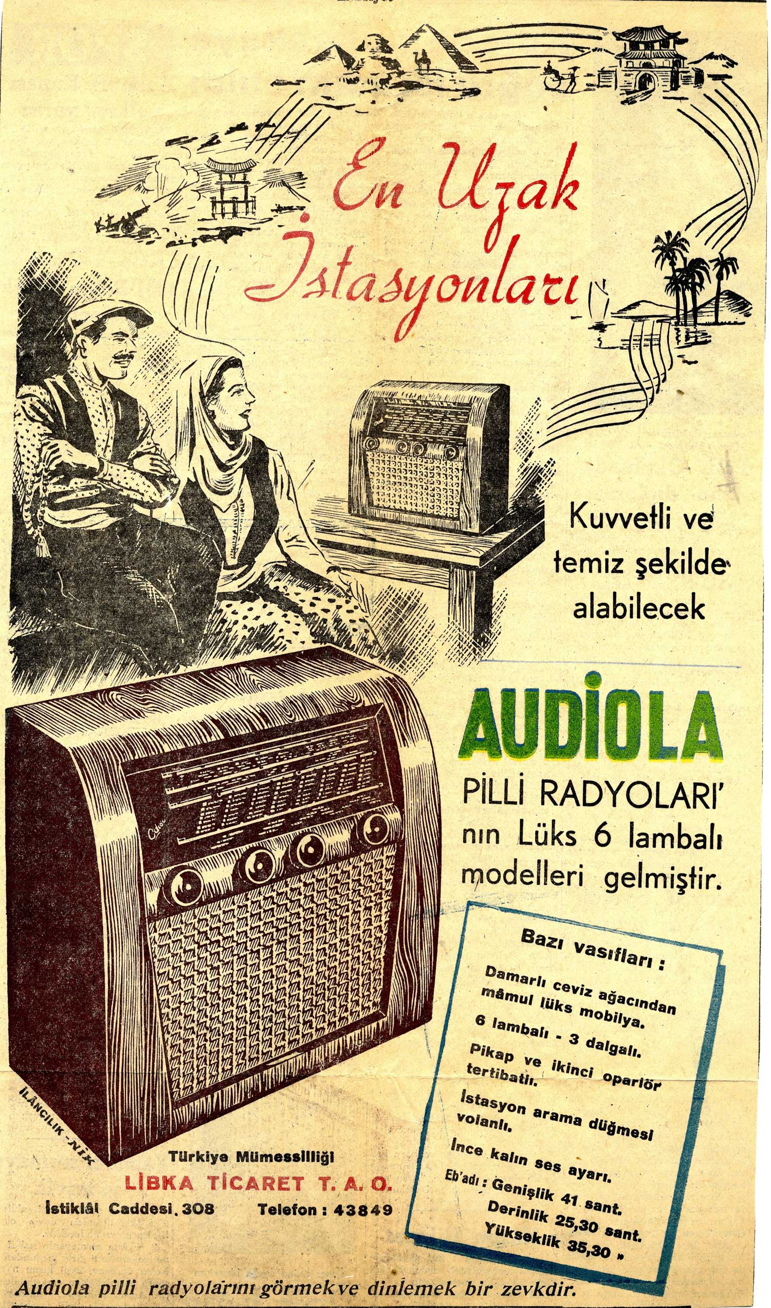 Turkish audiola ad